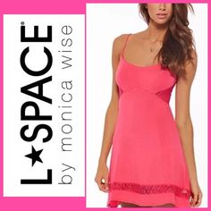 NWT LSpace Coral Color Sandbar Mini Dress Sz Small L*Space NEW with Tags - SMALL Current retail is $110 2015 SANDBAR Coverup / Dress This dress is gorgeous!! Beach, brunch, or bar, the comfy yet sexy Sandbar Dress will keep you looking stylish no matter where the day takes you. This slip-like dress features adjustable spaghetti straps, a crisscross lace-up back, and side and hem cut-outs filled in with gorgeous crochet lace. Spaghetti strap dress with crisscross lace-up back Slip-like…