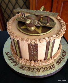 biplane cake