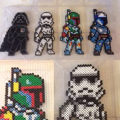 Star Wars perler beads by perlerthesprites_byliz Perler Bead Designs, Hama Beads Design, Diy Perler Beads, Perler Bead Art, Pony Bead Patterns, Pearler Bead Patterns, Perler Patterns, Beading Patterns, Hamma Beads 3d