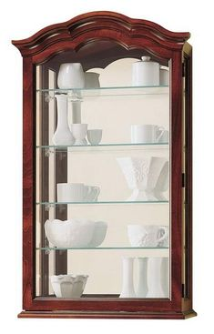 Amelia Whitewash Wooden Wall Curio Cabinet Finishing Touches Pinterest Walls And