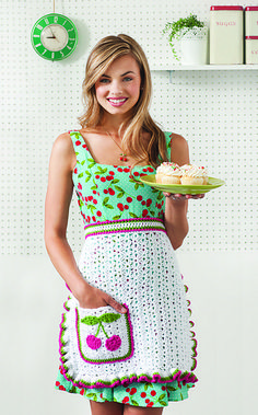 Ravelry: Cherry on Top Apron pattern by Beth Nielsen - pattern in Crochet Today! Sept/Oct 2012