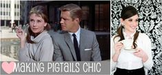 Holly Golightly even makes pigtails look elegant (w/ tutorial)