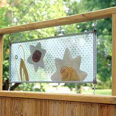 Decorative privacy panel.