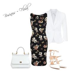 Business ~ Floral by billi29 on Polyvore featuring polyvore, fashion, style, George, MaxMara, Gianvito Rossi, Dolce&Gabbana and clothing