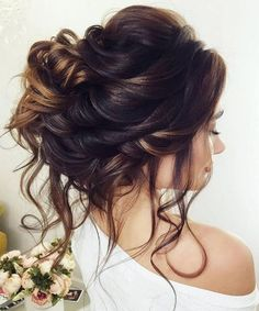 Most Beautiful Updo Wedding Hairstyles with Lush Waves #weddinghairstyles