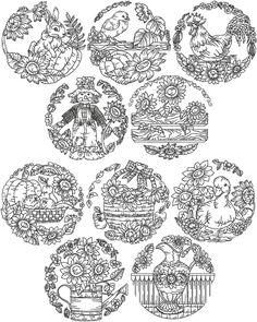 Advanced Embroidery Designs - Redwork Sunflower Set