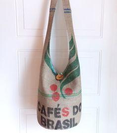 Burlap Hobo Bag Vintage Coffee Sack Sling Bag Large by 2LeftHandz, $38.00