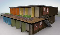 The Duplex container home with a outside terrace