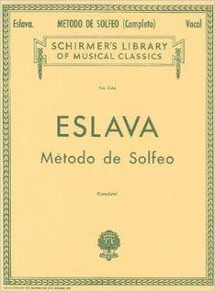 método de solfeo completo de Hilarion Eslava