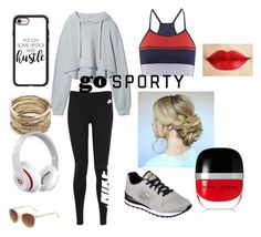 """Sporty"" by zara-167 on Polyvore featuring LNDR, NIKE, Skechers, Casetify, Sole Society, Beats by Dr. Dre, Marc Jacobs, cool, Trendy and sporty"