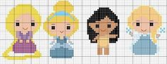 Disney Princess Babies, Baby Princess, Baby Disney, Beading Patterns, Embroidery Patterns, Hand Embroidery, Disney Cross Stitch Patterns, C2c Crochet, Cross Stitch Baby