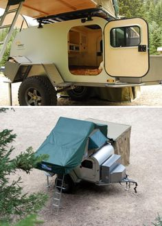 Tough All-Terrain Teardrop Trailer Goes Off-Grid, Packs Rooftop Tent : TreeHugger - Nice design - Compact
