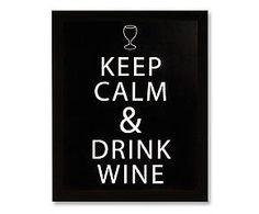 Gerahmter Digitaldruck Drink Wine, 20 x 25 cm