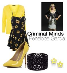 Criminal Minds: Penelope Garcia by binapaige on Polyvore featuring Weekend Max Mara, Oasis, Marc by Marc Jacobs, Minnie Grace and Garcia