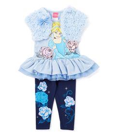 Loving this Navy & Blue Disney Princess Legging Set - Toddler & Girls on #zulily! #zulilyfinds