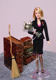 J.K Rowling OOAK Barbie Doll
