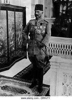Kaiser Wilhelm II in Turkish uniform and fez, WW1 - Stockbild