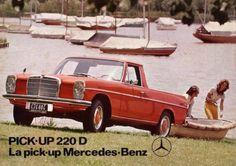 Met de Pick-Up heeft Mercedes een Pri … - Sportwagens Mercedes Maybach, Mercedes G Wagon, Mercedes Benz Germany, Old Mercedes, Classic Mercedes, Mb Truck, Golf Mk1, Peugeot 504, Automobile