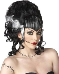 515 products - Find hundreds of women's costume wigs at Pure Costumes! Ranging from a huge variety of styles and colors, we've got everything from character wigs to everyday looks that you can wear year-round. Witch Costumes, Masquerade Costumes, Costume Wigs, Masquerade Ball, Bride Costume, Halloween Masquerade, Bride Of Frankenstein Hair, Halloween Wigs, Halloween Ideas