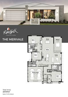 Floor Plans Modern House Designs the Merivale House Layout Plans, Bungalow House Plans, Family House Plans, Dream House Plans, Small House Plans, House Layouts, Modern Family House, Small Modern Home, Small House Design