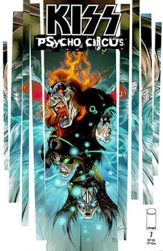 Kiss Psycho Circus Comic Art | KISS Psycho Circus Comics
