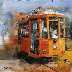 Castro Trolley by Mark Lague Oil ~ 8 x 8