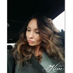 Beautiful balayage from dark to light brown. Created by Maria D colorsbykim.com
