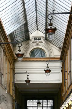 This beautifully restored 19th century covered passage in Galerie Vivienne.  I especially like the glass roof and the wonderful lanterns.  Galerie Vivienne  6 rue Vivienne  Paris 75002  Mètro: Bourse or Palais Royal