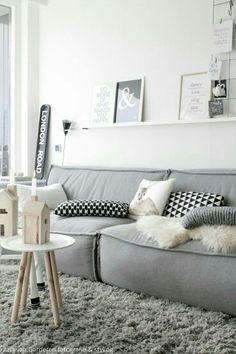 Diseño Blanco&Gris, maderas naturales  - Nórdico -