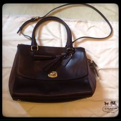 """Coach Legacy NWT  Coach Legacy Triple Zipper NWT in Chocolate  Gold hardware and a turn lock front pocket also has a detachable cross body strap. Size is 12 1/4"""" by 8""""  Plz ask any questions always happy to answer and Happy Poshing  Coach Bags Crossbody Bags"""