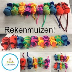 Annelies' blog, kleuterjuf! Marque-pages Au Crochet, Crochet Mouse, Crochet For Kids, Crochet Hats, Crochet Bookmarks, Amigurumi Toys, Pet Beds, Craft Tutorials, Kids And Parenting