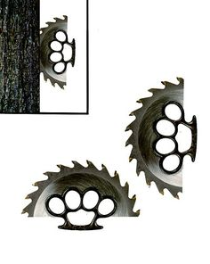 Brass Knuckles + Sawblades = Awesome Knife. For more pins like this follow @DCfanboy0801 www.pinterest.com/DCfanboy0801