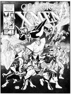 Arthur Adams Classic X-Men #1 Redux Comic Art.