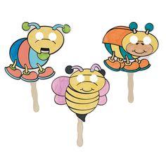 Color Your Own Bug Stick Masks - OrientalTrading.com