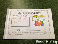 Kindergarten Sight Word Mini-Books: Have your students practice their sight words in a fun and interactive way! Includes Fry List and are great for centers! Sight Word Spelling, Sight Word Centers, Fry Sight Words, Sight Word Games, Sight Word Activities, Reading Activities, Literacy Activities, Reading Resources, Real Teacher