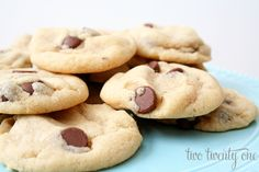 *4 - Pam's favorite Chocolate Chip Cookie recipe! Cook D's to brown, mine not.