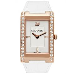 Swarovski Citra Square White Dial Leather Quartz Ladies Watch 1094370 >>> Continue to the product at the image link. Swarovski Watches, Summer Accessories, Gold Leather, Stainless Steel Case, Cool Watches, Quartz Watch, Jewelry Stores, Swarovski Crystals, Fashion Jewelry