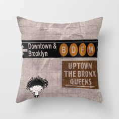 Hello NYC Throw Pillow by OLENNO PLOOTT - $20.00