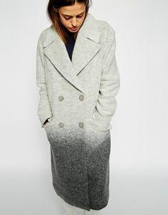 Vergrößern ASOS – Übergroßer Mantel in Ombré-Optik aus Wolle