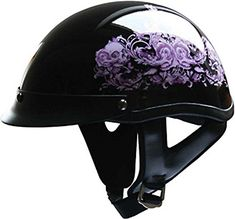 HCI Purple Flower Motorcycle Half Helmet with Visor - ABS Shell 100-141 (Large) HCI http://www.amazon.com/dp/B00M0XSRXC/ref=cm_sw_r_pi_dp_.pqfxb1JPCQFE