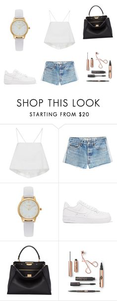 """""""Untitled #22"""" by fotinaki06 ❤ liked on Polyvore featuring A.L.C., RE/DONE, Vivani, NIKE and Fendi"""