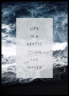 Enjoy The Waves Poster in the group Posters & Prints / Typography & quotes at Desenio AB Pretty Wallpapers Tumblr, Personalised Posters, Poster Photo, Poster Decorations, Buy Posters Online, Groups Poster, Waves, Art Moderne, Typography Quotes