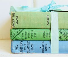 Your place to buy and sell all things handmade Vintage Nursery Decor, Vintage Home Decor, Vintage Display, Green Books, Handmade Tags, Any Book, Better Love, Lilac, Blue Green