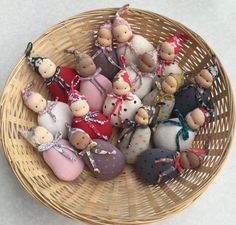 Discover thousands of images about Pixie Baby Waldorf pocket doll cm. tall by MonPilou Waldorf Crafts, Waldorf Toys, Sock Dolls, Felt Dolls, Rag Dolls, Crochet Dolls, Homemade Dolls, Baby Doll Clothes, Diy Clothes