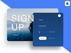 Daily UI 001 Sign Up Login Page Design, Website Design Layout, App Ui Design, Mobile App Design, Web Layout, Interface Design, Layout Design, Web Mobile, Sign Up Page