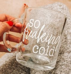 we meet again. We all have that one friend who is always cold, this mug, is perfect for them! Clear Glass Coffee Mugs, Coffee Candle, Gifts For Friends, Gifts For Her, Hello Winter, Christmas Coffee, Crafty Projects, Tea Mugs, Birthday Gifts