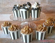 Cupcakes with baked in toffee pralines
