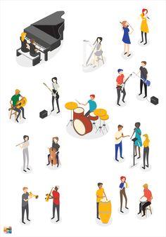 Music Illustration, People Illustration, Character Illustration, Architecture People, Architecture Drawings, Architecture Diagrams, Architecture Portfolio, Icon Png, People Cutout