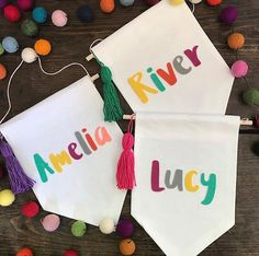 Personalised name or word small wall banner nursery kids