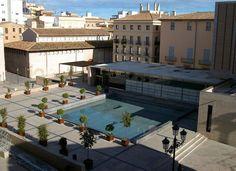 Plaça de l'Almoina des de la catedral, València -